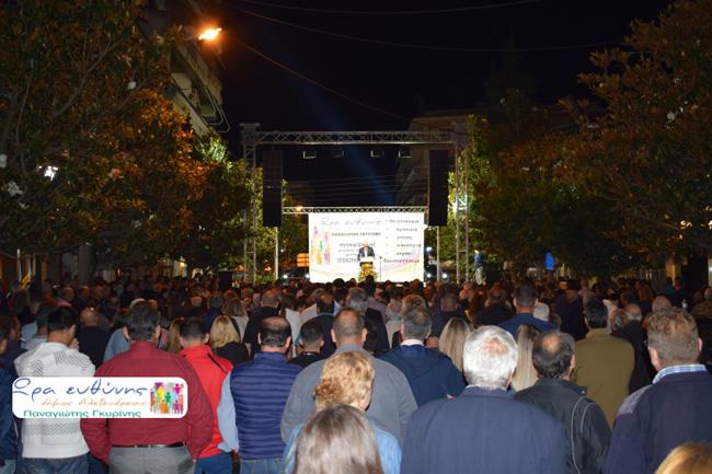 """Παναγιώτης Γκυρίνης από την Αλεξάνδρεια:  """"Στις 2 Ιουνίου οι πολίτες δίνουν την οριστική απάντηση. Η αποψινή σας παρουσία επιβεβαιώνει την νίκη της Ώρας Ευθύνης"""""""
