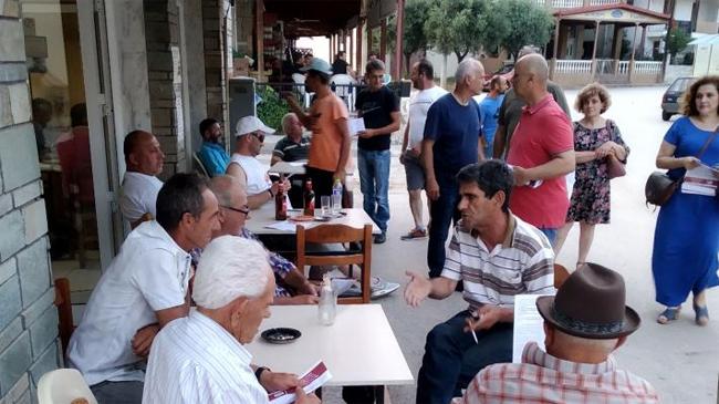 Περιοδεία του ΚΚΕ στα χωριά Στενήμαχος και Μονόσπιτα