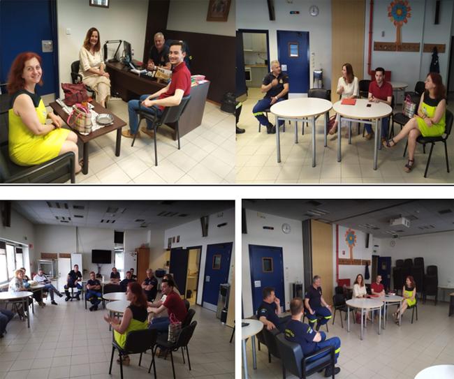 Επίσκεψη υποψηφίων του ΣΥΡΙΖΑ στην Πυροσβεστική