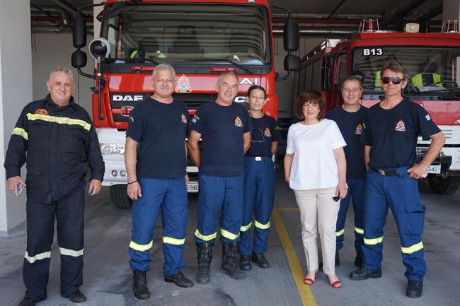 Για τη λειτουργία και την υπηρεσιακή ετοιμότητα της Πυροσβεστικής Υπηρεσίας Βέροιας ενημερώθηκε η Φρόσω Καρασαρλίδου