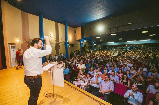Μεγαλειώδης πολιτική ομιλία από τον Τάσο Μπαρτζώκα : «Τάσο γερά, αλλάζουμε γενιά» φώναζαν οι εκατοντάδες κόσμου που βρέθηκαν στην ομιλία του