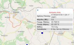 Σεισμός 3,8 Ρίχτερ κοντά στην Έδεσσα ταρακούνησε και την Ημαθία τα ξημερώματα