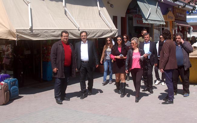 Περιοδεία στην αγορά της Βέροιας και στο Μακροχώρι από τον Κώστα Βοργιαζίδη