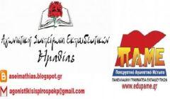 Ανακοίνωση της ΑΣΕ Ημαθίας για  τους αναπληρωτές