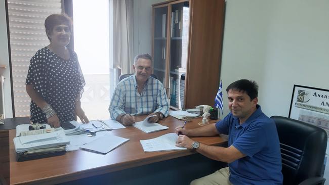 Υπογραφές Συμβάσεων έργων από την ΑΝΗΜΑ