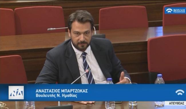 Ερώτηση του βουλευτή Τάσου Μπαρτζώκα προς τον Υπουργό Προστασίας του Πολίτη κ. Μιχάλη Χρυσοχοΐδη σχετικά με τον απαρχαιωμένο στόλο της ΕΛ.ΑΣ. στην Ημαθία