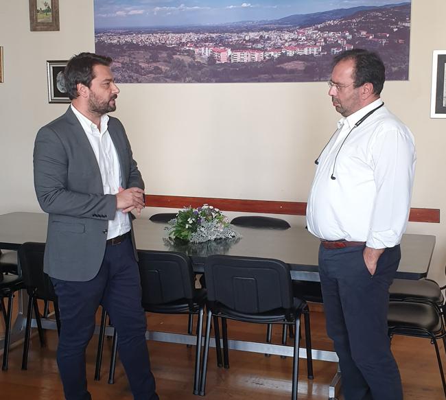 Συνάντηση του βουλευτή Τάσου Μπαρτζώκα με τον Δήμαρχο Βέροιας
