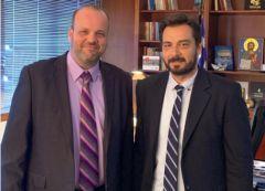Με τον Διοικητή του ΟΑΕΔ Σπυρίδωνα Πρωτοψάλτη συναντήθηκε ο  βουλευτής Ημαθίας Τάσος Μπαρζώκας