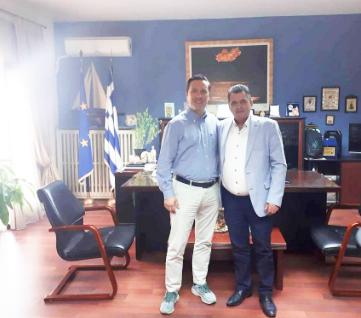 Συνάντηση Δημάρχου Νάουσας Ν. Καρανικόλα με Αντιπεριφερειάρχη Π.Ε. Ημαθίας Κώστα Καλαϊτζίδη