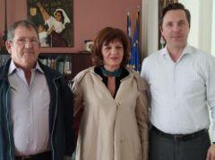 Συναντήσεις Φρόσως Καρασαρλίδου με δημάρχους Βέροιας, Νάουσας, Αλεξάνδρειας για θέματα που απασχολούν τους τρεις δήμους του νομού μας