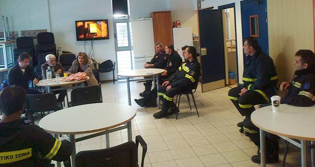 Περιοδεία του ΚΚΕ στην Πυροσβεστική Υπηρεσία της Βέροιας