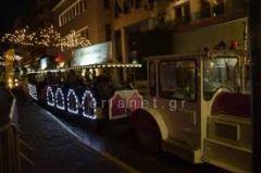 Το τρενάκι των Χριστουγέννων στη Βέροια
