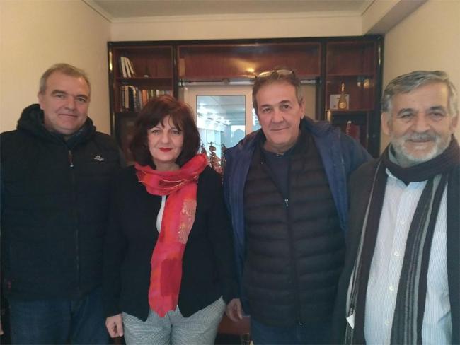 Φρόσω Καρασαρλίδου: Επίσκεψη σε τοπικούς επιχειρηματίες και μέλη της διοίκησης του Επιμελητηρίου