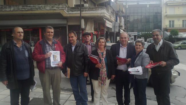 Περιοδεία Δ. Χαραλαμπίδου στη Νάουσα: Μήνυμα αγώνα κατά της ανεργίας
