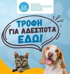 Σε λειτουργία η πιλοτική ηλεκτρονική εφαρμογή «ΑΤΛΑΣ» για την σίτιση και την φροντίδα αδέσποτων ζώων από τον Δήμο Νάουσας