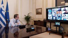 Τηλεδιάσκεψη του πρωθυπουργού με ερευνητές και αθλητές