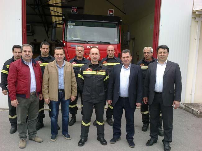 Σε Πυροσβεστική και Κέντρο Υγείας Αλεξάνδρειας ο Κώστας Βοργιαζίδης