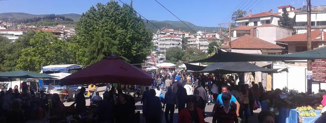 Βέροια: Λαϊκή αγορά με κόσμο και μέτρα προστασίας