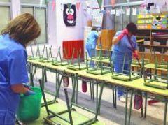 Για τα προβλήματα των  των εργαζομένων στην καθαριότητα των σχολικών κτιρίων