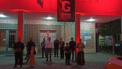 Συμβολική φωταγώγηση της πρόσοψης του Δημαρχείου της Νάουσας για την Ημέρα Μνήμης και Τιμής της Γενοκτονίας των Ελλήνων του Πόντου