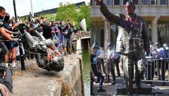 Καν' το όπως στο Μπρίστολ: Διαδηλωτές πέταξαν στη θάλασσα άγαλμα δουλεμπόρου...