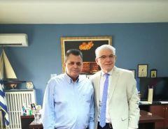 Συνάντηση αντιπεριφερειάρχη Ημαθίας με τον πρόεδρο του ΕΛΓΑ