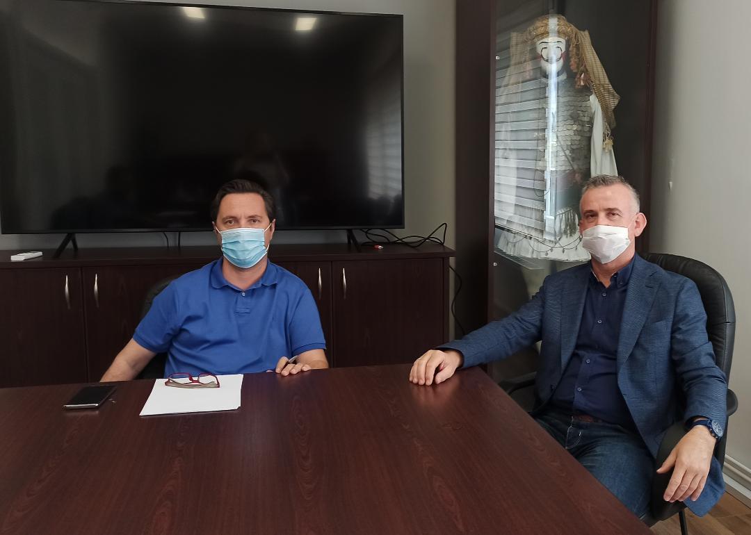 Συνάντηση Δημάρχου Νάουσας με τον Πρόεδρο του ΤΕΕ (Τμήμα Κεν. Μακεδονίας)