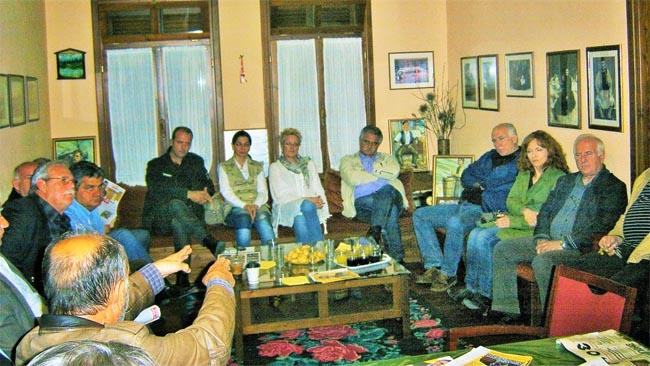 Επίσκεψη του Νίκου Μπέκη στο Σύλλογο Βλάχων Βέροιας