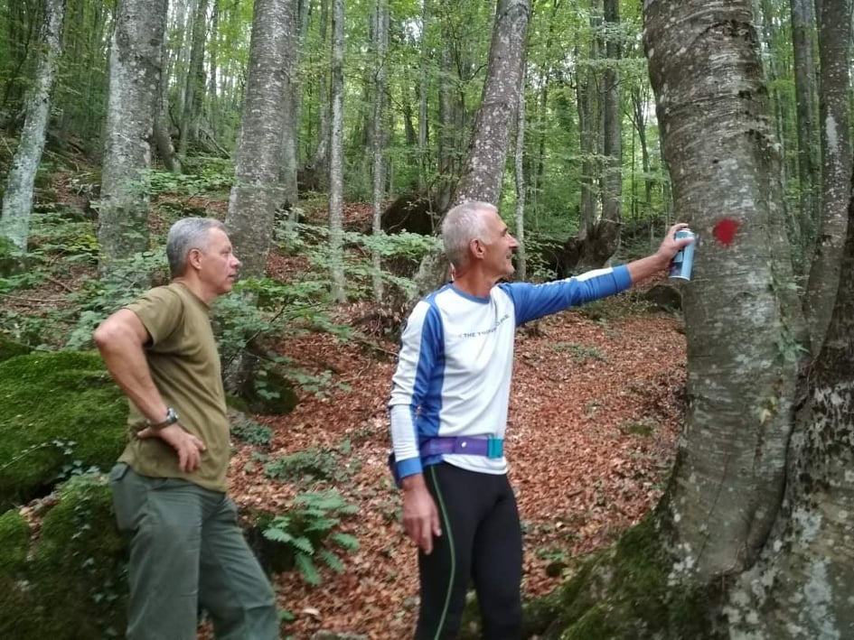 Διάνοιξη και σήμανση  μονοπατιών στον ορεινό όγκο του Βερμίου από τον Δήμο Νάουσας και αθλητικά σωματεία