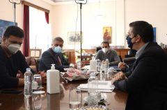 Δηλώσεις του Περιφερειάρχη Κεντρικής Μακεδονίας Απόστολου Τζιτζικώστα μετά το πέρας της σύσκεψης με τον Πρωθυπουργό Κυριάκο Μητσοτάκη στο ΥφΜΑΘ