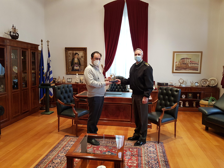 Συνάντηση Δημάρχου Βέροιας με τον απερχόμενο Διοικητή της 1ης Μεραρχίας Πεζικού