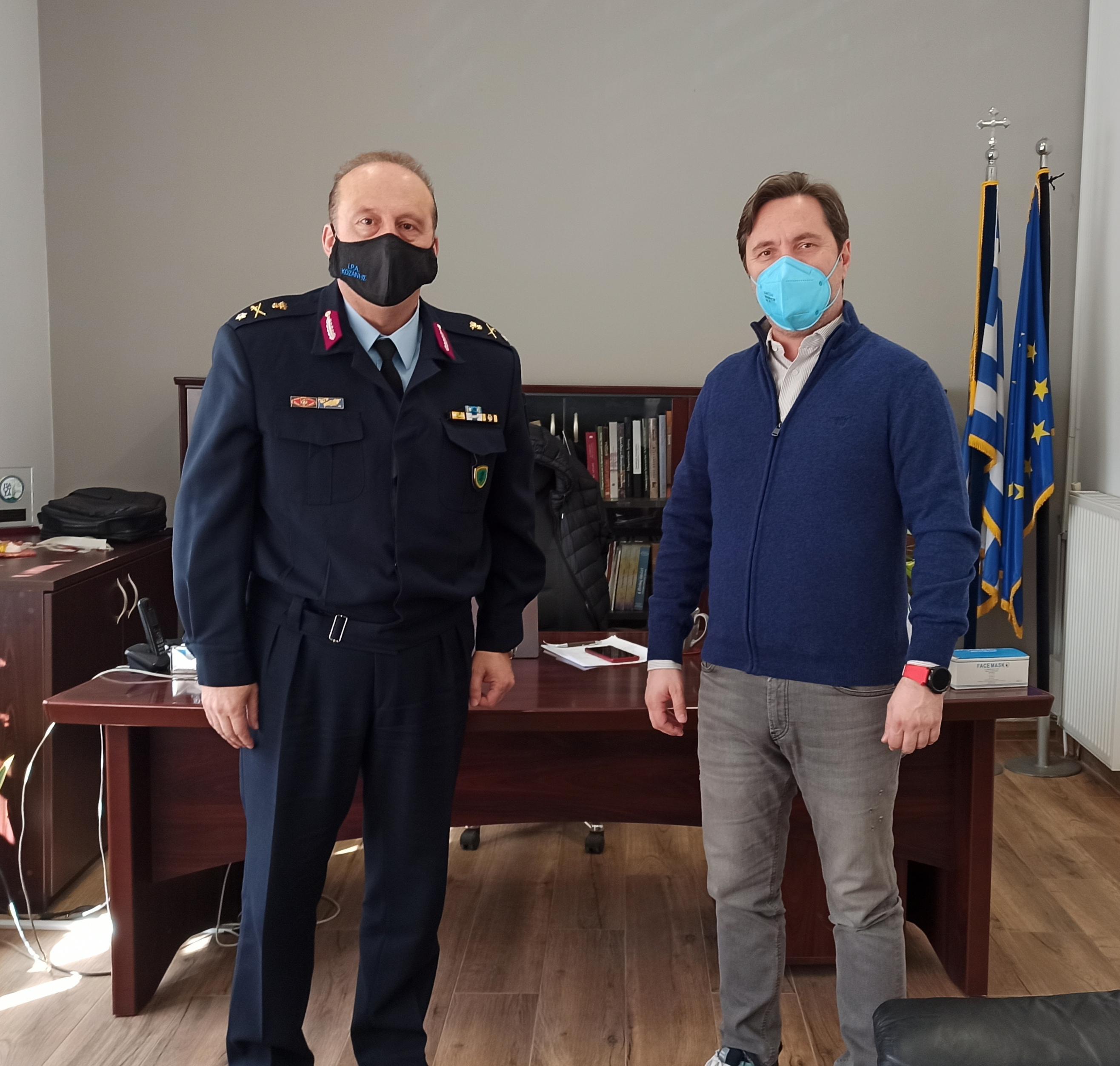 Συνάντηση Δημάρχου Νάουσας με τον νέο Αστυνομική Διευθυντή Ημαθίας Ταξίαρχο κ. Γιώργο Αδαμίδη