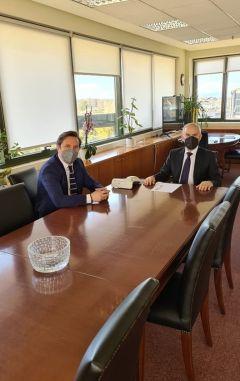 Θέματα πολεοδομίας και χωροταξίας στο επίκεντρο της συνάντησης του Δημάρχου Νάουσας Νικόλα Καρανικόλα με τον Υφυπουργό Χωροταξίας και Αστικού Περιβάλλοντος Νίκο Ταγαρά