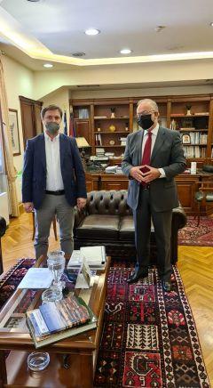 Συνάντηση Δημάρχου Νάουσας Νικόλα Καρανικόλα με τον Πρόεδρο του Ταμείου Παρακαταθηκών και Δανείων Δημήτρη Σταμάτη