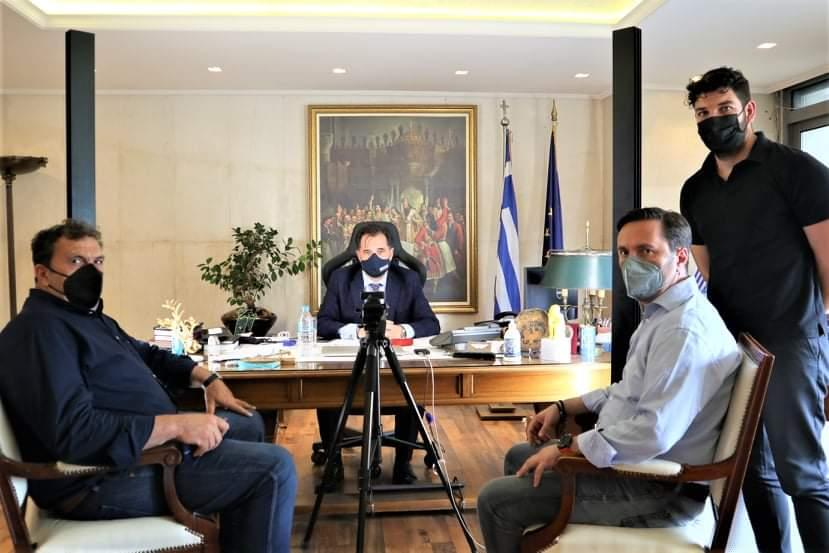 Τα αναπτυξιακά σχέδια του δήμου στο επίκεντρο της συνάντησης του Δημάρχου Νάουσας Νικόλα Καρανικόλα με τον Υπουργό Ανάπτυξης και Επενδύσεων Άδωνι Γεωργιάδη