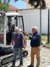 Εγκατάσταση του αναδόχου του έργου Ανάπλασης της πλατείας Αμπελοτοπίων παρουσία του Δημάρχου Παναγιώτη Γκυρίνη