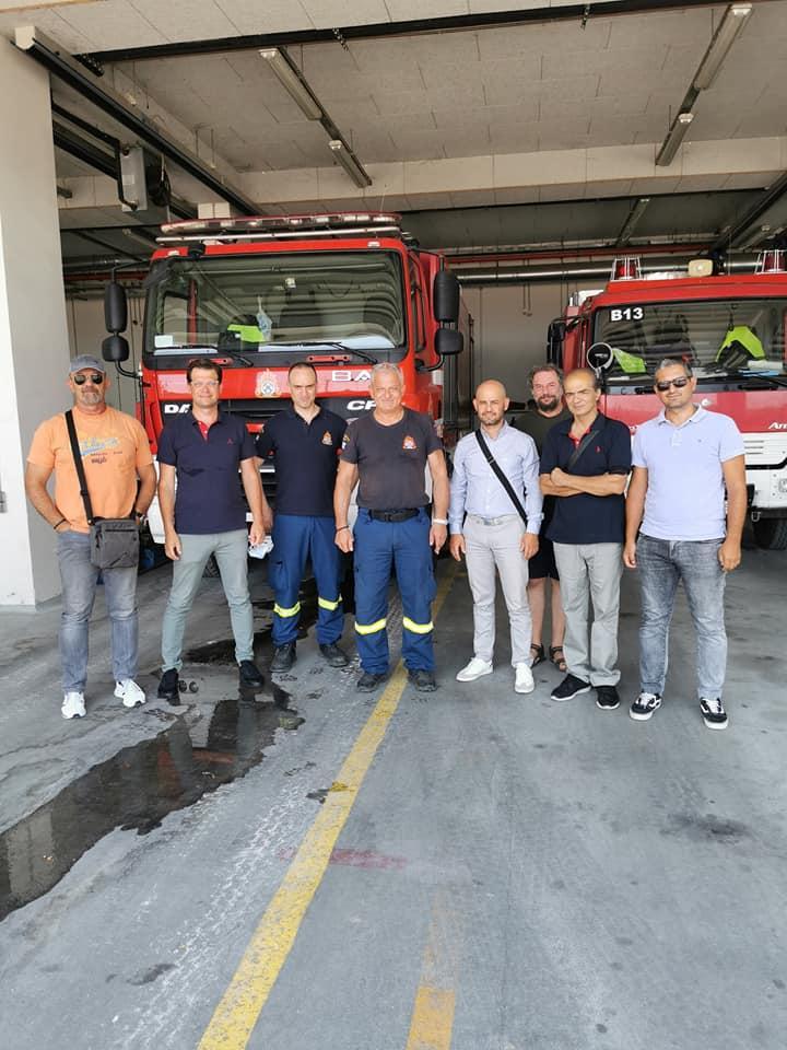 Επίσκεψη Βουλευτή Ημαθίας ΣΥΡΙΖΑ Άγγελου Τόλκα στις Υπηρεσίες Πυροσβεστικής του Νομού Ημαθίας