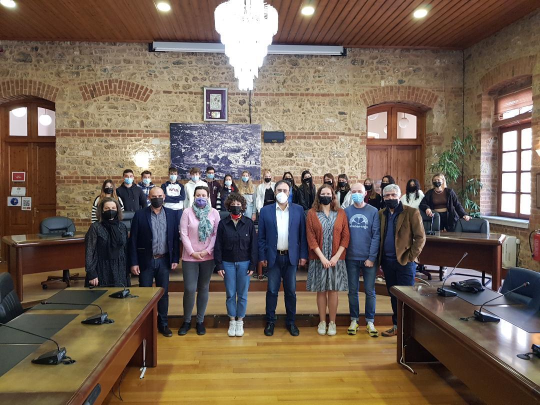 Μαθητές Προγράμματος Erasmus στο Δημαρχείο Βέροιας