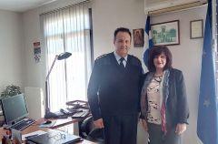 Η Φρόσω Καρασαρλίδου σε Αστυνομική Διεύθυνση Ημαθίας, Σχολή Αστυνομίας και συνάντηση με την Ένωση Αστυνομικών