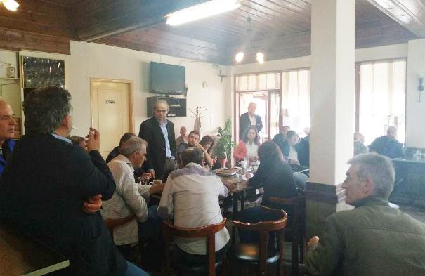 Επισκεψη βουλευτών ΣΥΡΙΖΑ στα Ριζώματα