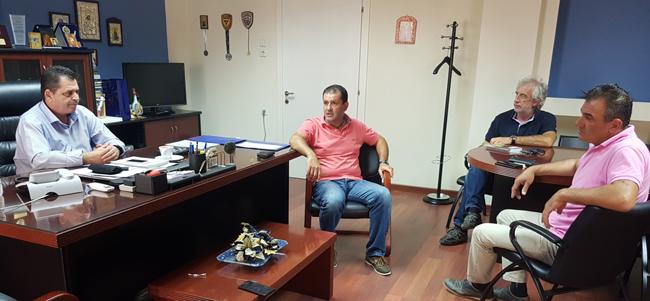 Συνάντηση αντιπεριφερειάρχη με την διοίκηση του Αγροτικού Συλλόγου Γεωργών Βέροιας