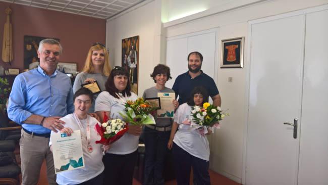Νάουσα: Συγχαρητήρια για  επιτυχίες στους πανελλήνιους αγώνες Special Olympics
