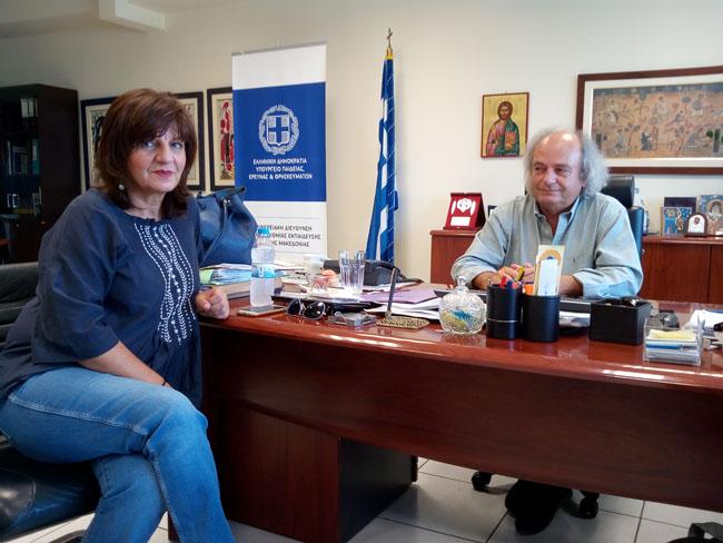 Επίσκεψη Φρ. Καρασαρλίδου στον Περιφερειακό Δ/ντή Εκπαίδευσης για θέματα παιδείας του νομού μας
