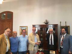 Συνάντηση Δημάρχου Βέροιας με τον Κόμη του Σαιντ Άντριους και το Γ.Γ. της Οικουμενικής Ομοσπονδίας Κωνσταντινουπολιτών