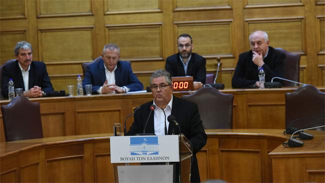 Η ομιλία του Δ. Κουτσούμπα στην παρουσίαση των προτάσεων του ΚΚΕ για τη συνταγματική αναθεώρηση
