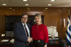Συνάντηση της Υφυπουργού Προστασίας του Πολίτη  Κατερίνας Παπακώστα-Σιδηροπούλου με τον υποψήφιο Δήμαρχο Βέροιας, Αντώνη Μαρκούλη