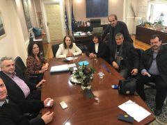 Συνάντηση Φρόσως Καρασαρλίδου και Εκπροσώπων Συνεταιρισμών Οργανώσεων με την Υφυπουργό κα Κ. Παπανάτσιου για το θέμα της μαύρης αγοράς και της φορολόγησης των αγροτών
