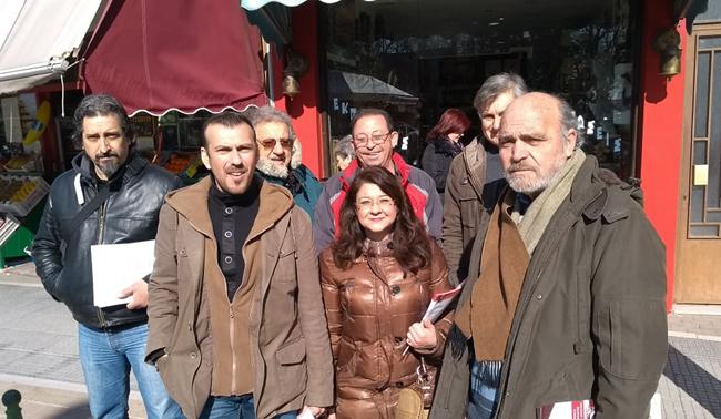 Περιοδεία της ΛΑΙΚΗΣ ΣΥΣΠΕΙΡΩΣΗΣ στη Λαϊκή αγορά της Αλεξάνδρειας