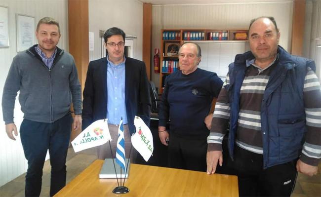 Επίσκεψη Ν. Μπρουσκέλη υποψήφιου βουλευτή του ΚΙΝΑΛ στον πρότυπο Αγροτικό Συνεταιρισμό Κουλούρας «Απόλλων»