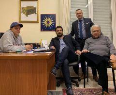 Επίσκεψη στα γραφεία του Συλλόγου Βεροιέων Αθήνας  πραγματοποίησε ο Τάσος Μπαρτζώκας